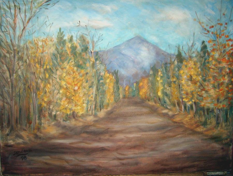 Road To Mountain Painting by Joseph Sandora Jr