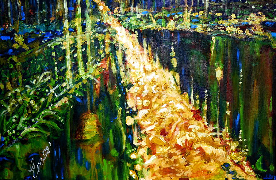 Abstract Painting - Road To Paradise by Ewa BOROWKA