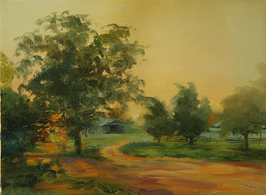 Dirt Road Painting - Road To Reminiscing by Jill Holt