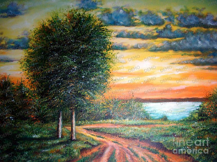 Road Painting - Road To River by Vyacheslav Dohuzya