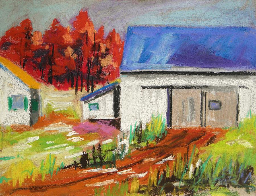 Blue Roof Painting - Road To The Barn by John Williams