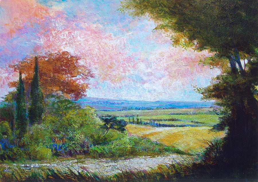 Landscape Painting - Road To The Fields by Dale  Witherow