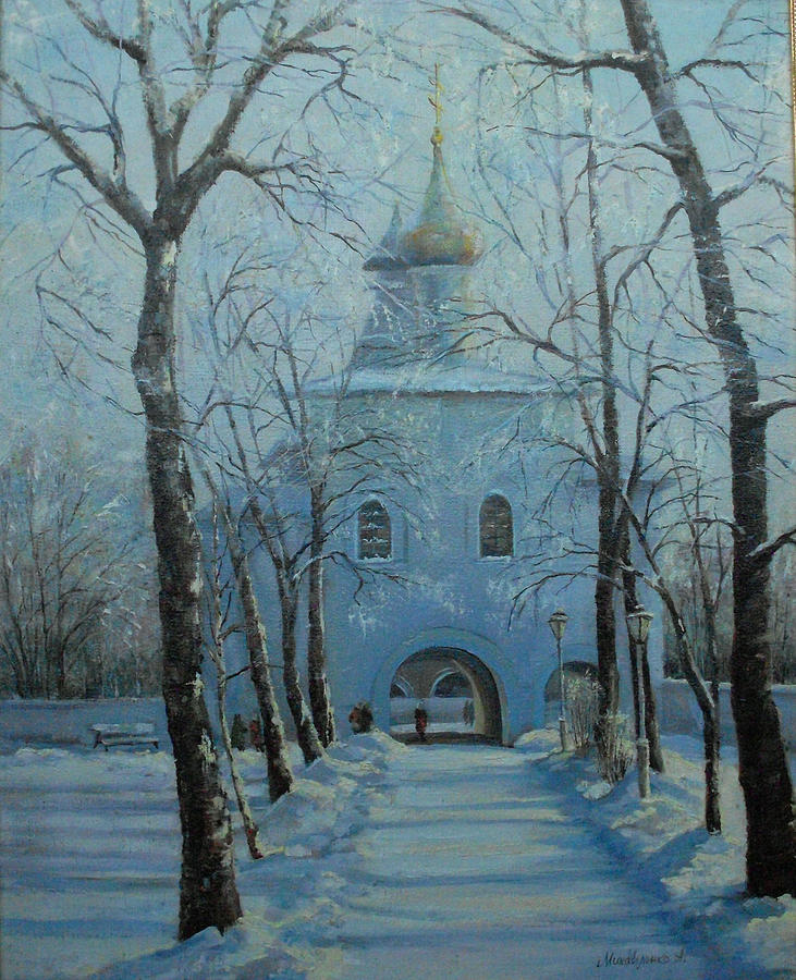 Road Painting - Road To The Temple by Mikhaylichenko Aleksandlra Peter