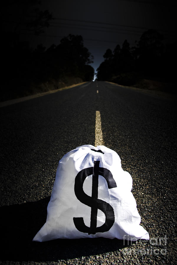 Direction Photograph - Road To Wealth And Financial Gain by Jorgo Photography - Wall Art Gallery