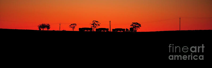 Road Train Sunset Photograph by Bill  Robinson