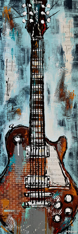 Electric Guitar Painting - Roadhouse blues by Magda Magier