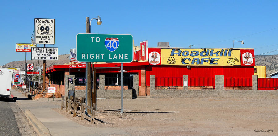 Roadkill Cafe, Route 66, Seligman Arizona by Victoria Oldham