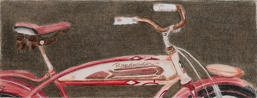 Bicycle Drawing - Roadmaster by Glenda Zuckerman