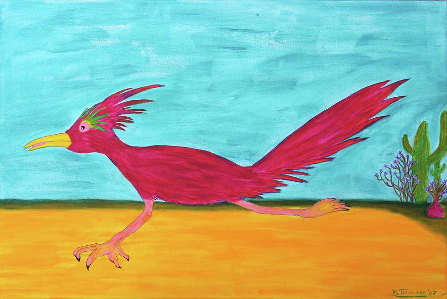 Animals Painting - Roadrunner Hunter By Ken Tesoriere by Lyric Artists