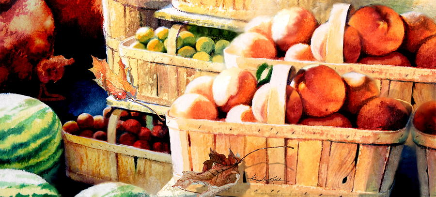 Roadside Fruit Stand Painting