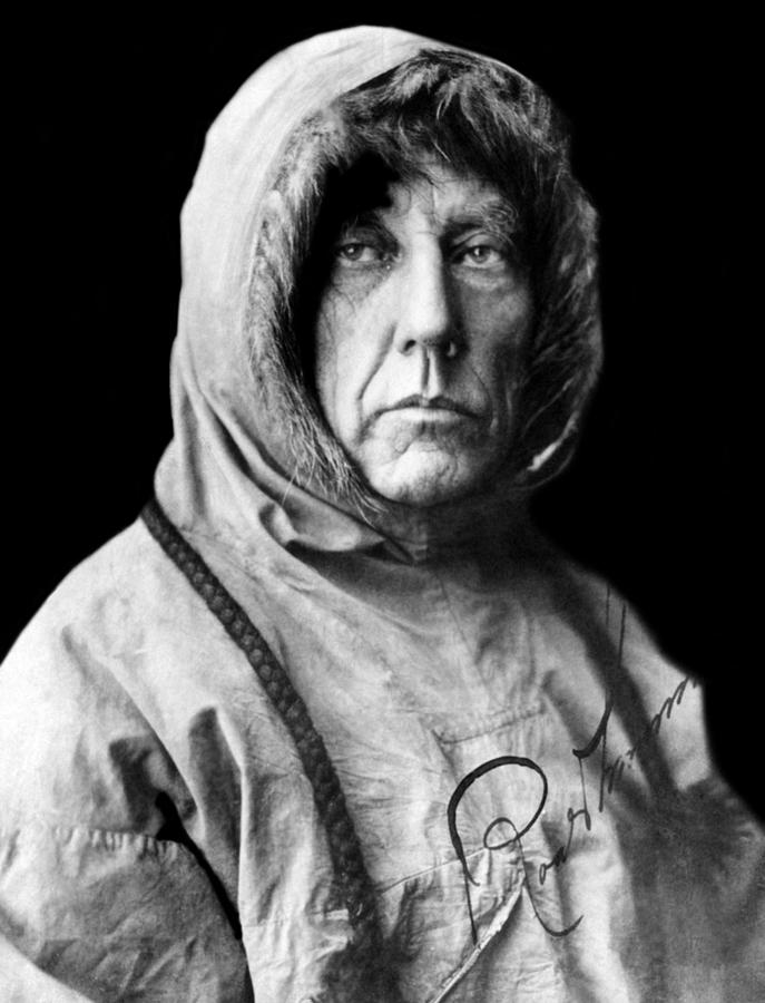 1920s Portraits Photograph - Roald Amundsen, The First Person by Everett