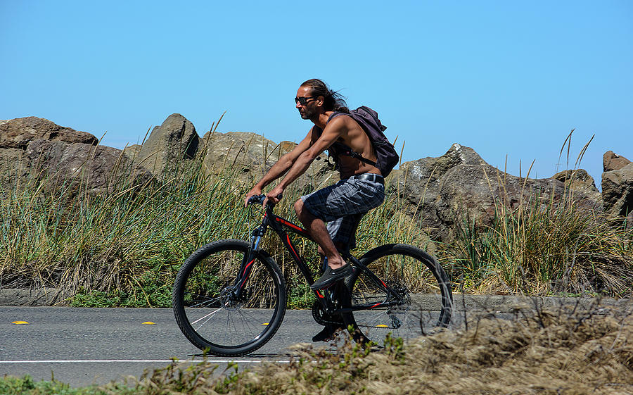 Bicyclist Photograph - Roaming America by Tikvahs Hope