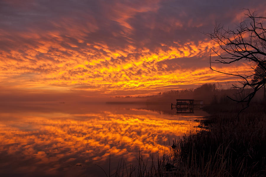 Roanoke Lake Fire by Don Keisling