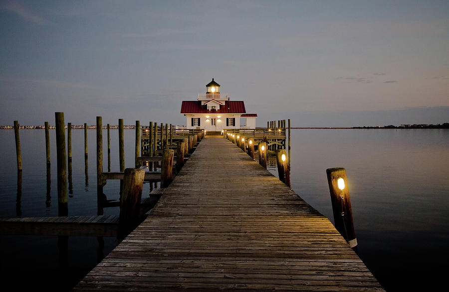 Roanoke Marshes Lighthouse by David Sutton