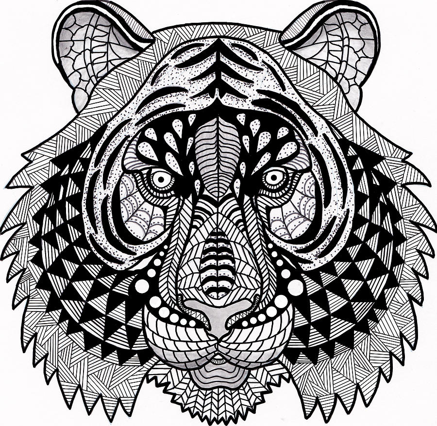 Pen Drawing - Roar by Vicki Winchester