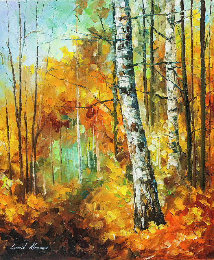 Painting Painting -  Roaring Birch  by Leonid Afremov