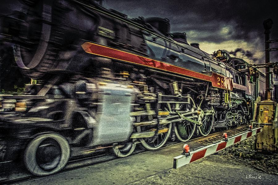 Steam Photograph - Roaring Past by Bill Linn