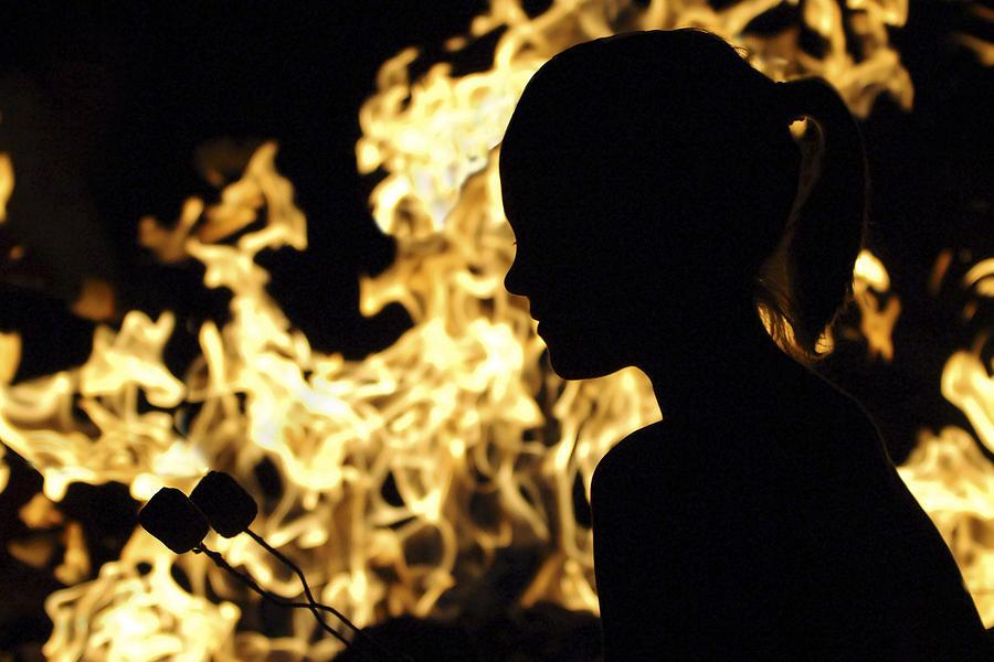Roasting Marshmallows Over An Open Fire Photograph By Jill Reger