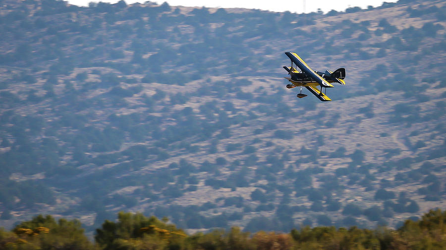 Biplane Photograph - Rob Caster In Miss Diane, Friday Morning 16x9 Aspect by John King