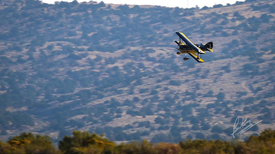 Biplane Photograph - Rob Caster In Miss Diane, Friday Morning 16x9 Aspect Signature Edition by John King
