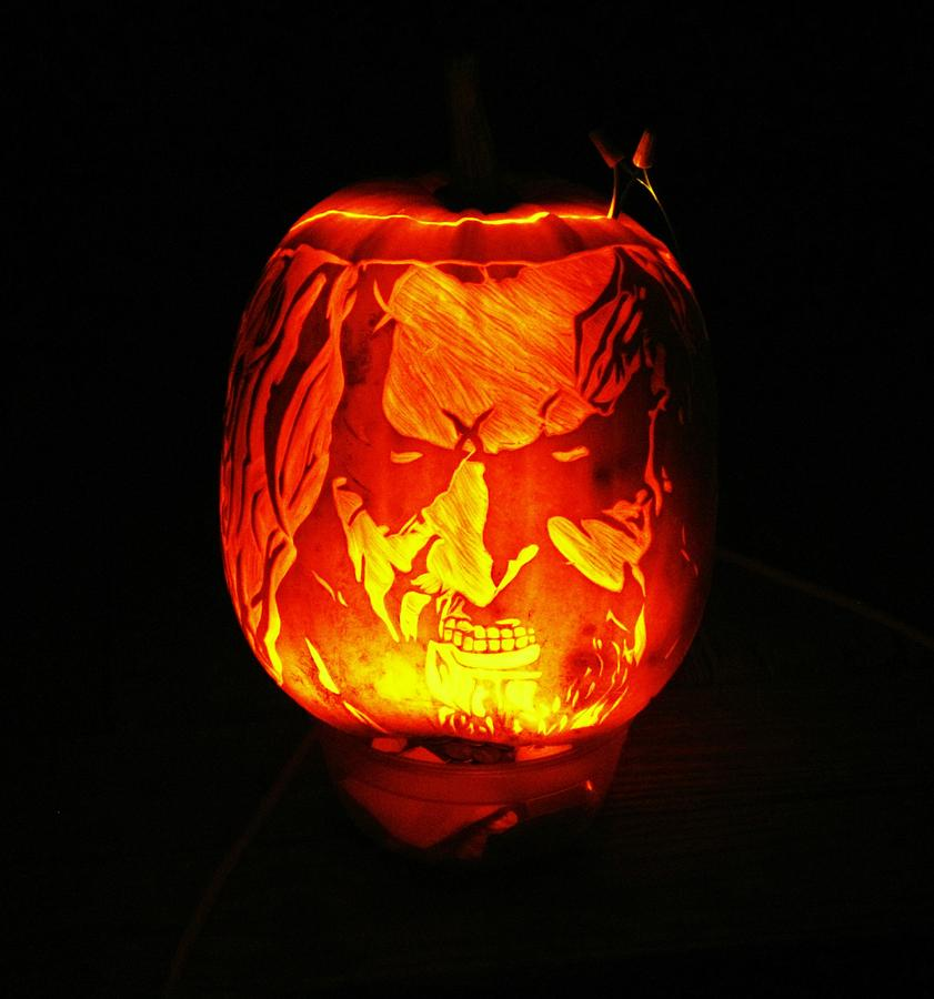 Pumpkin Photograph - Rob Zombie by Kennen King