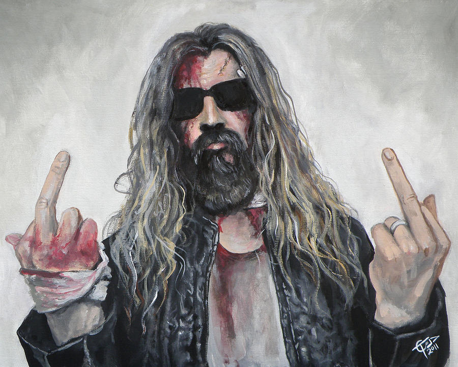 Rob Zombie Painting - Rob Zombie by Tom Carlton