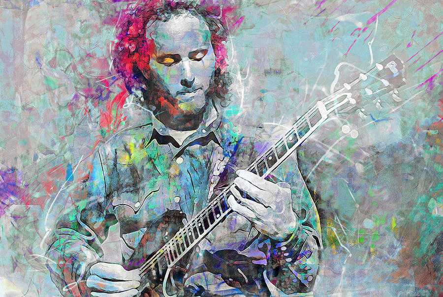 Robby Krieger Mixed Media - Robby Krieger by Mal Bray