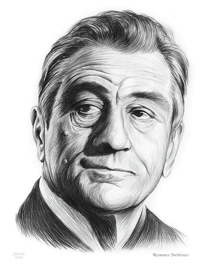 Robert De Niro Drawing - Robert De Niro 17aug18 by Greg Joens