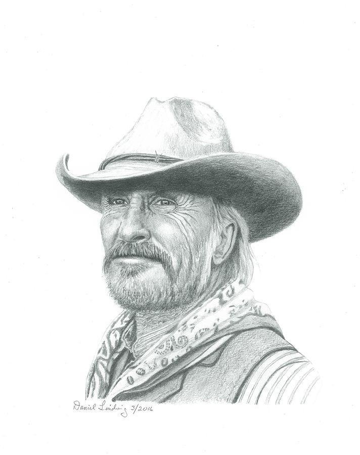 d7669d9f Actor Drawing - Robert Duvall As Gus In Lonesome Dove by Daniel Lindvig