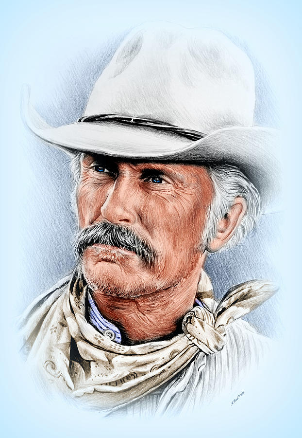 Robert Duvall As Gus Mccrae Drawing By Andrew Read