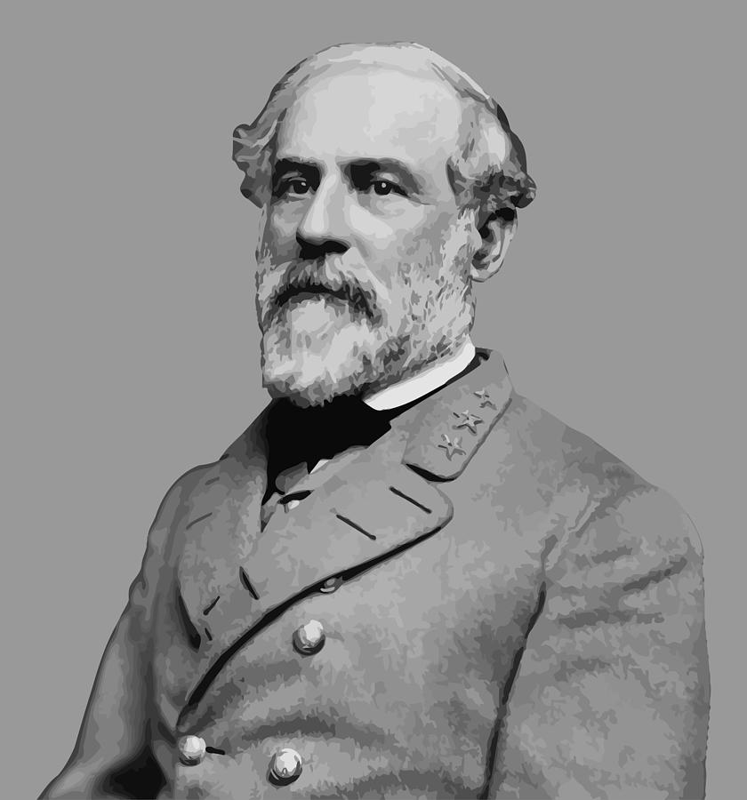 Robert E Lee Painting - Robert E Lee - Confederate General by War Is Hell Store