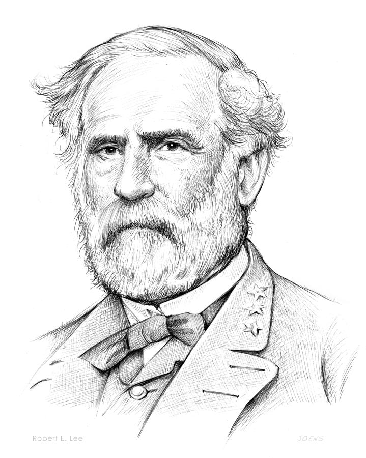 Robert E. Lee Drawing - Robert E. Lee by Greg Joens