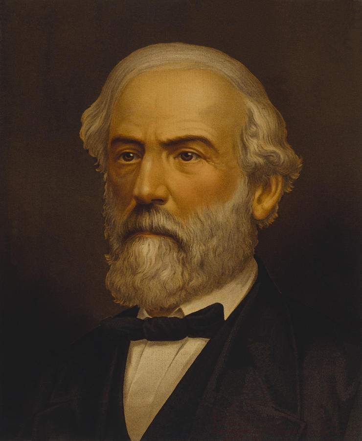 Robert E Lee Painting - Robert E. Lee Painting by War Is Hell Store