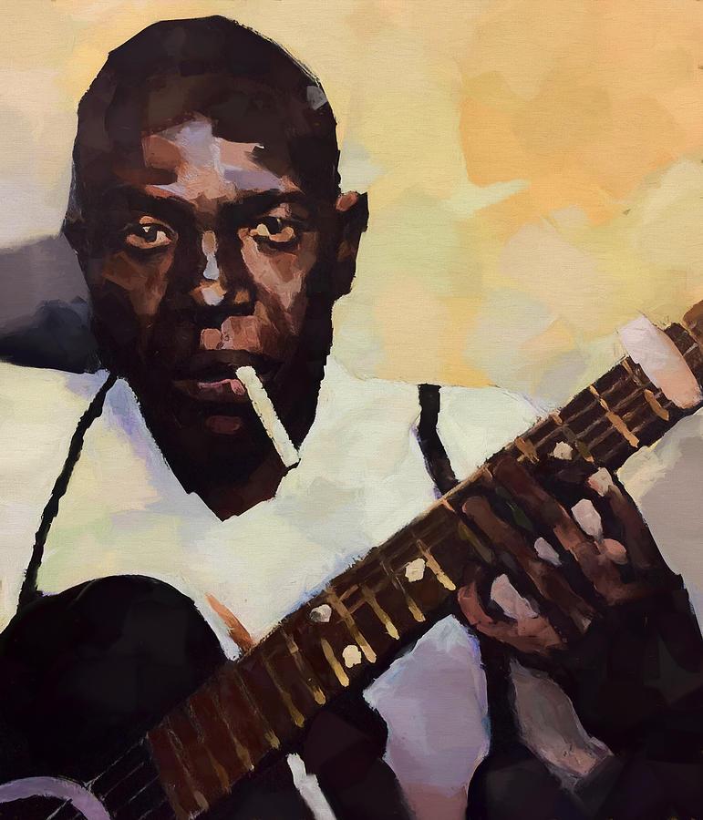 Robert Johnson Painting - Robert Johnson Plays The Blues by Dan Sproul