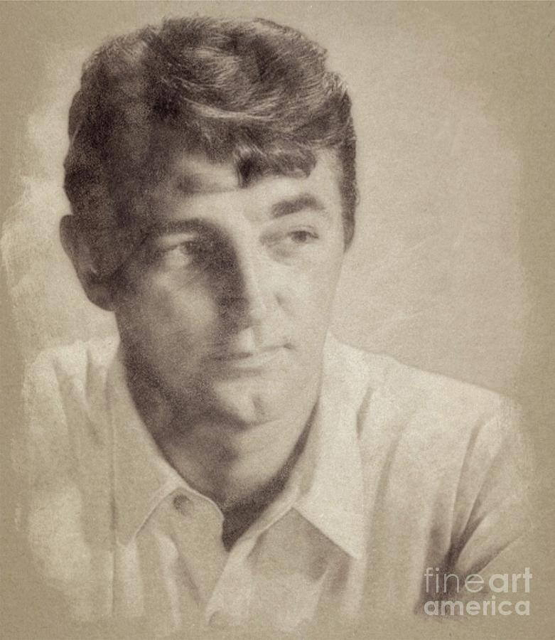 Robert Mitchum, Hollywood Legend By John Springfield Drawing
