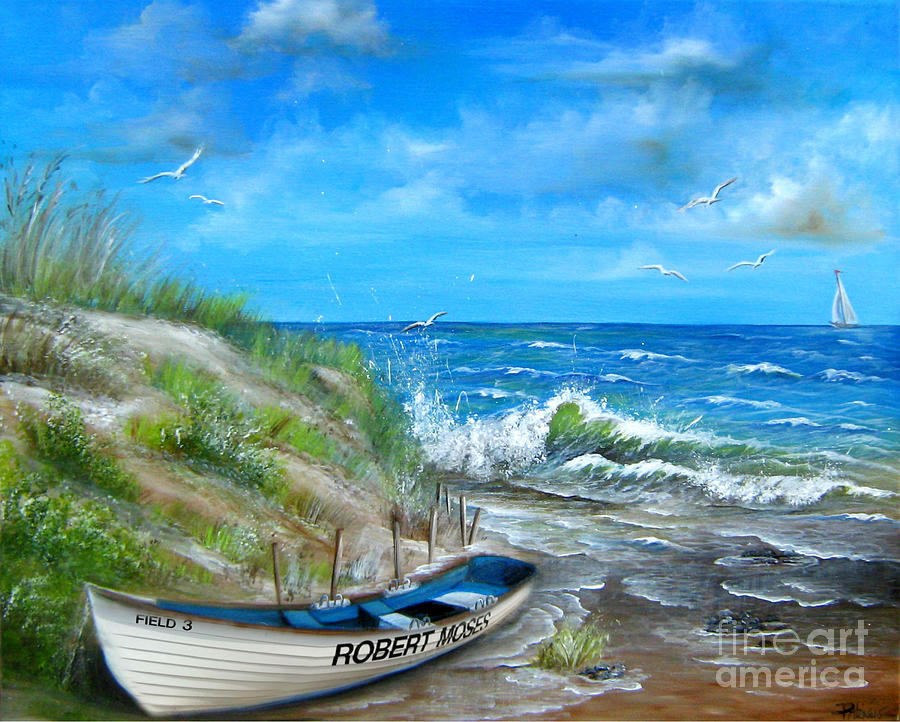 Robert Moses Beach Painting By Patrice Torrillo