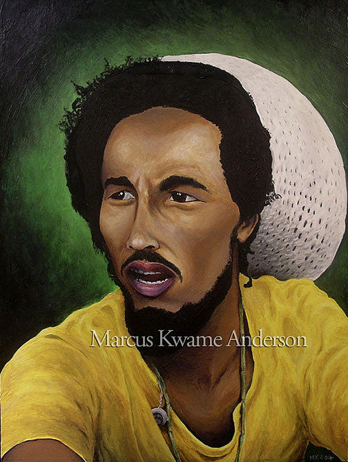 Bob Marley Painting - Robert Nesta Marley by Marcus Anderson