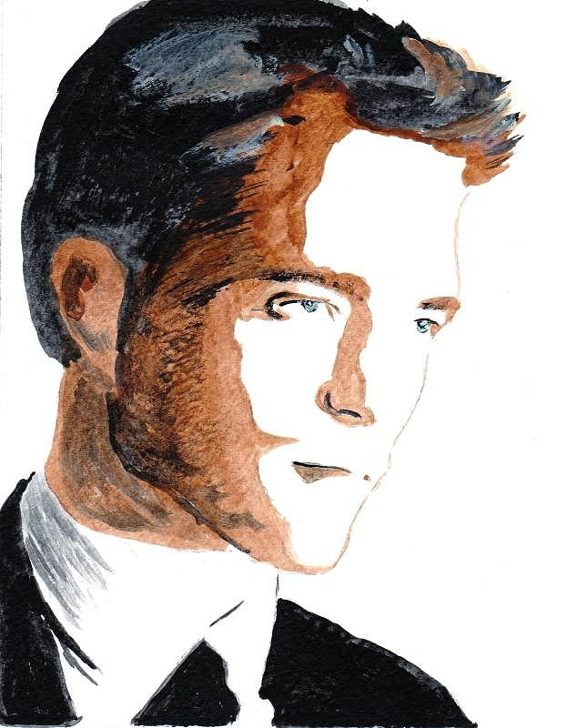 Robert Pattinson 18 Painting by Audrey Pollitt