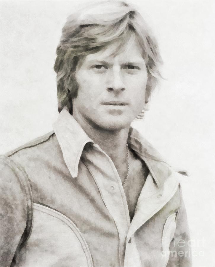 Robert Redford, Actor Painting