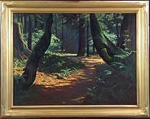 Robert Rishell Trail Of The Giants Painting by Robert Rishell