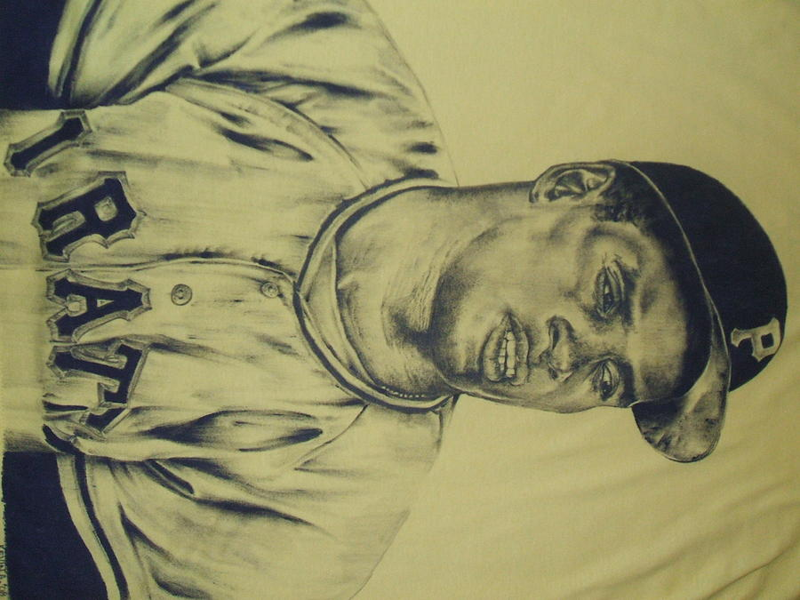 Roberto Clemente Drawing by Kevin Armenta