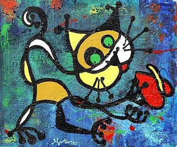 Cat Digital Art - Roberts Cat by Ray Masters