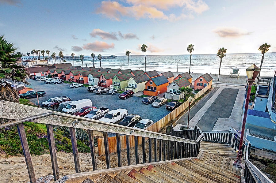 Oceanside Photograph - Roberts Cottages by Ann Patterson
