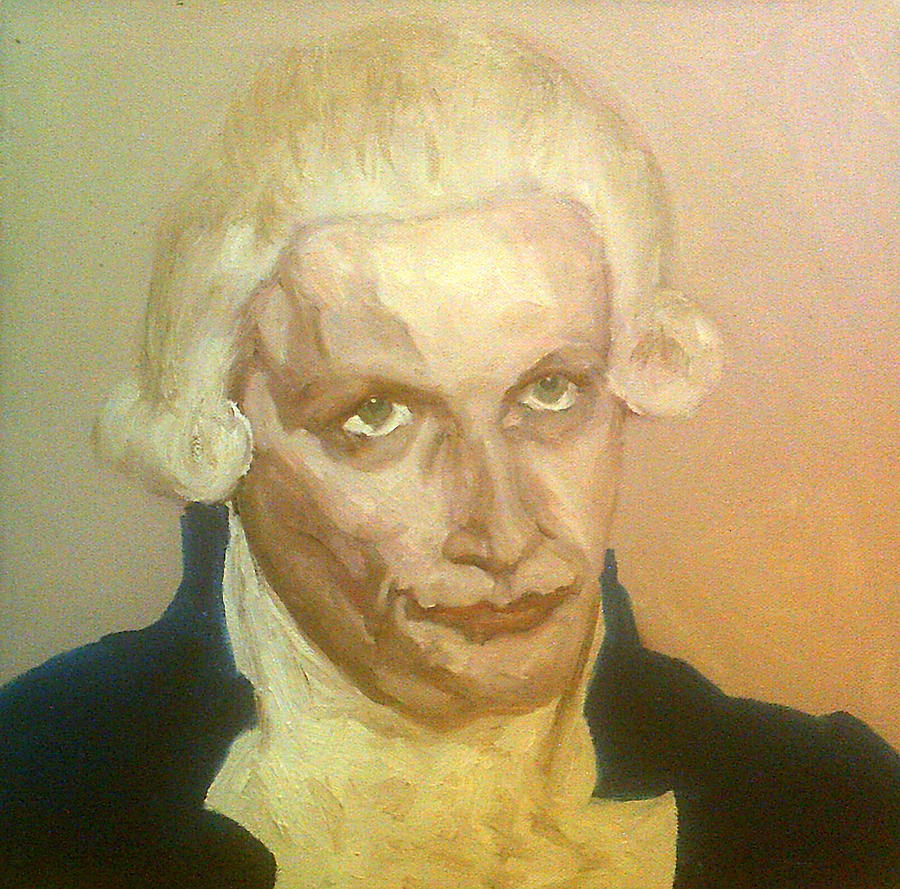 Robespierre Frowns  Painting by Peter Gartner