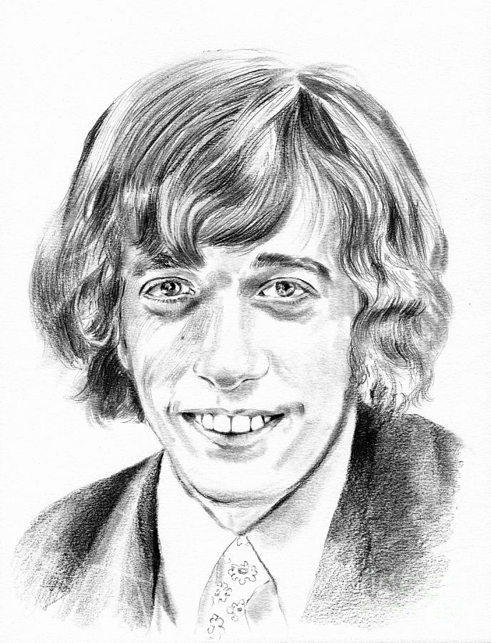 Robin Drawing - Robin Gibb drawing by Suzann Sines