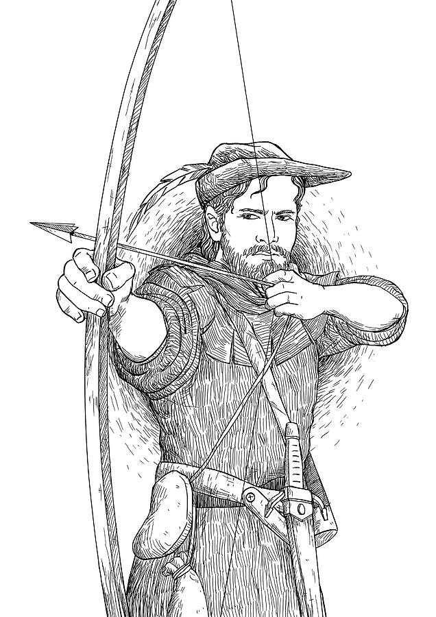 5301ddaf2c8 Robin Hood Drawing - Robin Hood The Legend by Reynold Jay