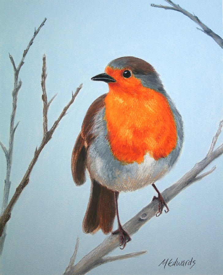Robin Painting - Robin In The Tree by Marna Edwards Flavell
