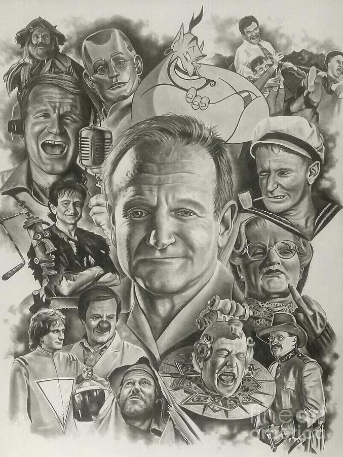 Robin Williams Drawing - Robin Williams by James Rodgers