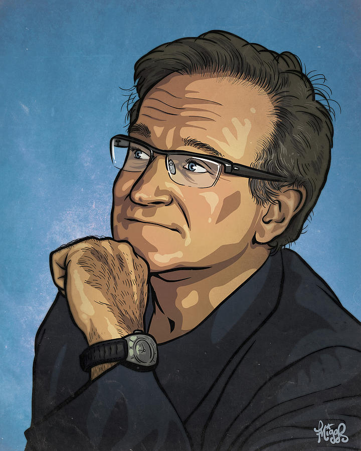 Robin Williams Drawing - Robin Williams by Miggs The Artist