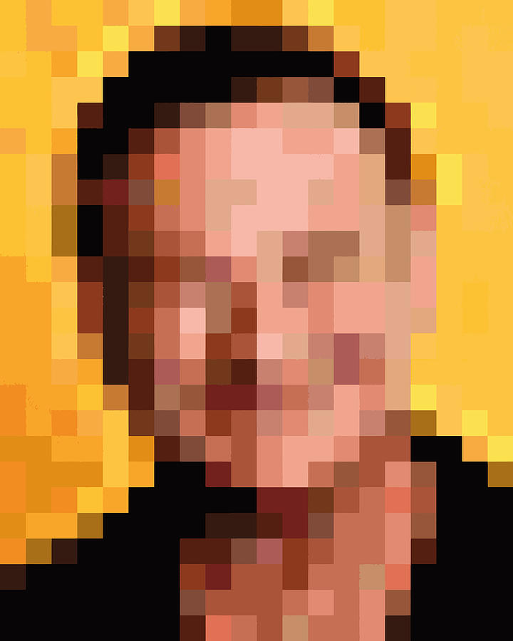 Robin Williams Pixelface #2 Digital Art By Pixel Face